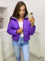 Куртка стойка ворот 1819 фиолетовая DIM