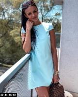 Платье повседневное лайт голубое Z109