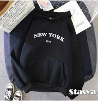 Толстовка утепленная NEW YORK черная O114