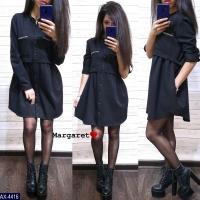 Платье барби черное S111