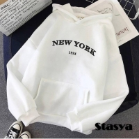 Толстовка утепленная NEW YORK белая O114