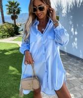 Туника с карманом голубая AZ116 118