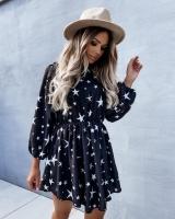 Платье прада со звездами черное A133 115