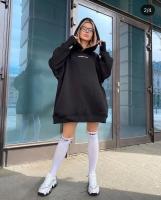 Худи SHARM GIRL утепленное черное A116