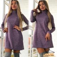 Платье клеш ангора софт фиолет K115