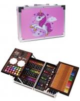 Набор для рисования 147 предметов в кейсе. Юный художник Пони