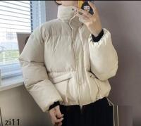 Куртка с карманами утяжка по низу кремовая ZI