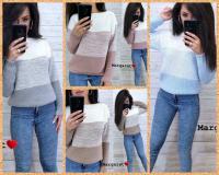 Вязаный свитер переход цвета NU