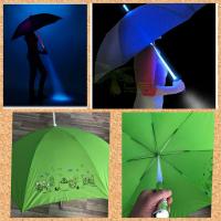 Зонт с подсветкой и фонариком