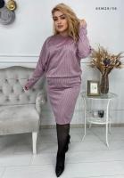 Платье Size Plus розовая клетка M29