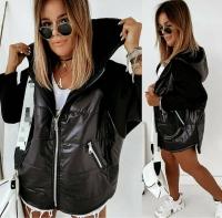 Куртка комбинированная черная O114 KH