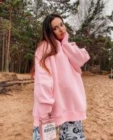 Худи SHARM GIRL утепленное персиково-розовое A116