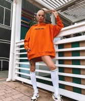 Худи SHARM GIRL утепленное оранж A116