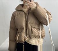Куртка с карманами утяжка по низу каппучино ZI