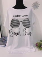 Свободная футболка SIZE Plus Beach Bum Белая In