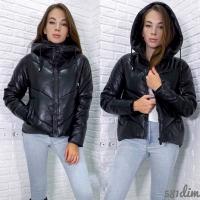 Куртка экокожа чёрная 212 DIM