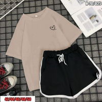 Костюм шорты и футболка каппучино сердечко SV DN