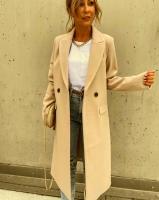 Пальто с кашемиром EXCLUSIV светло-бежевое A116