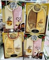 Набор из двух махровых полотенец кофе в коробке_новая цена