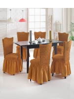 Комплект чехлов на стулья из 6 штук медовый