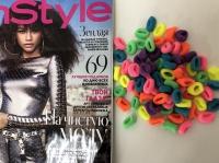 Набор из 10 штук резинок для волос Радуга