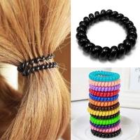 Силиконовые резинки пружинки для волос набор из 5 штук