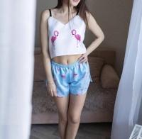 Атласный костюм Фламинго KIGU