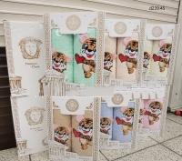 Набор полотенец баня+лицо с тигрятами