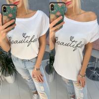 Свободная футболка SIZE PLUS Beautiful белая IN