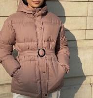 Куртка с поясом каппучино ZI