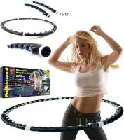 Обруч массажер - тренажер с магнитными вставками для похудения