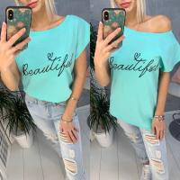 Свободная футболка SIZE PLUS Beautiful бирюза IN