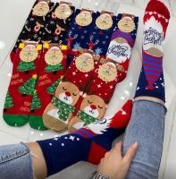 Высокие новогодние носки Cristmas