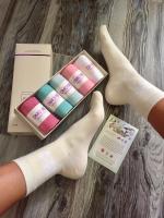 Антибактериальные носки дезодорированные набор из 6 пар в коробке