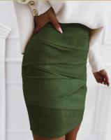 Юбка спандекс green A133/45