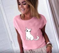 Футболка котенок розовая SN NU