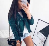 Куртка спандекс зеленая S30 116 KH