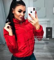 Куртка с крупными карманами красная ZI BN 25