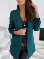 Пиджак с подкладкой спереди зеленый KH