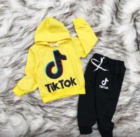 Детский костюм с капюшоном TTOK с желтой кофтой Xi