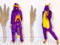 Кигуруми пижамка фиолетовый дракон Спайро