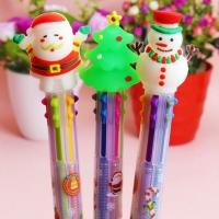 Ручка новогодняя 6 цветов