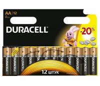 Комплект из 12 батареек тип АА пальчиковые