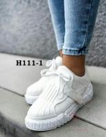 Кроссовки под кожу Н111-1 белые RZ70