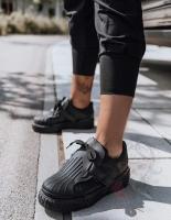 Кроссовки под кожу Н111 черные RZ70