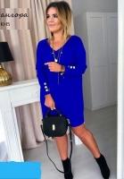Туника платье Size Plus ангора софт синее KH
