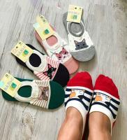 Невидимые носки с кошкой 616-11 новая цена