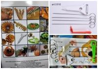 Набор для фигурной нарезки овощей и фруктов, 6 предметов