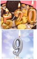 Цифра свеча в торт в ассортименте