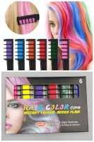 Расчёска для временного окрашивания волос 6 цветов